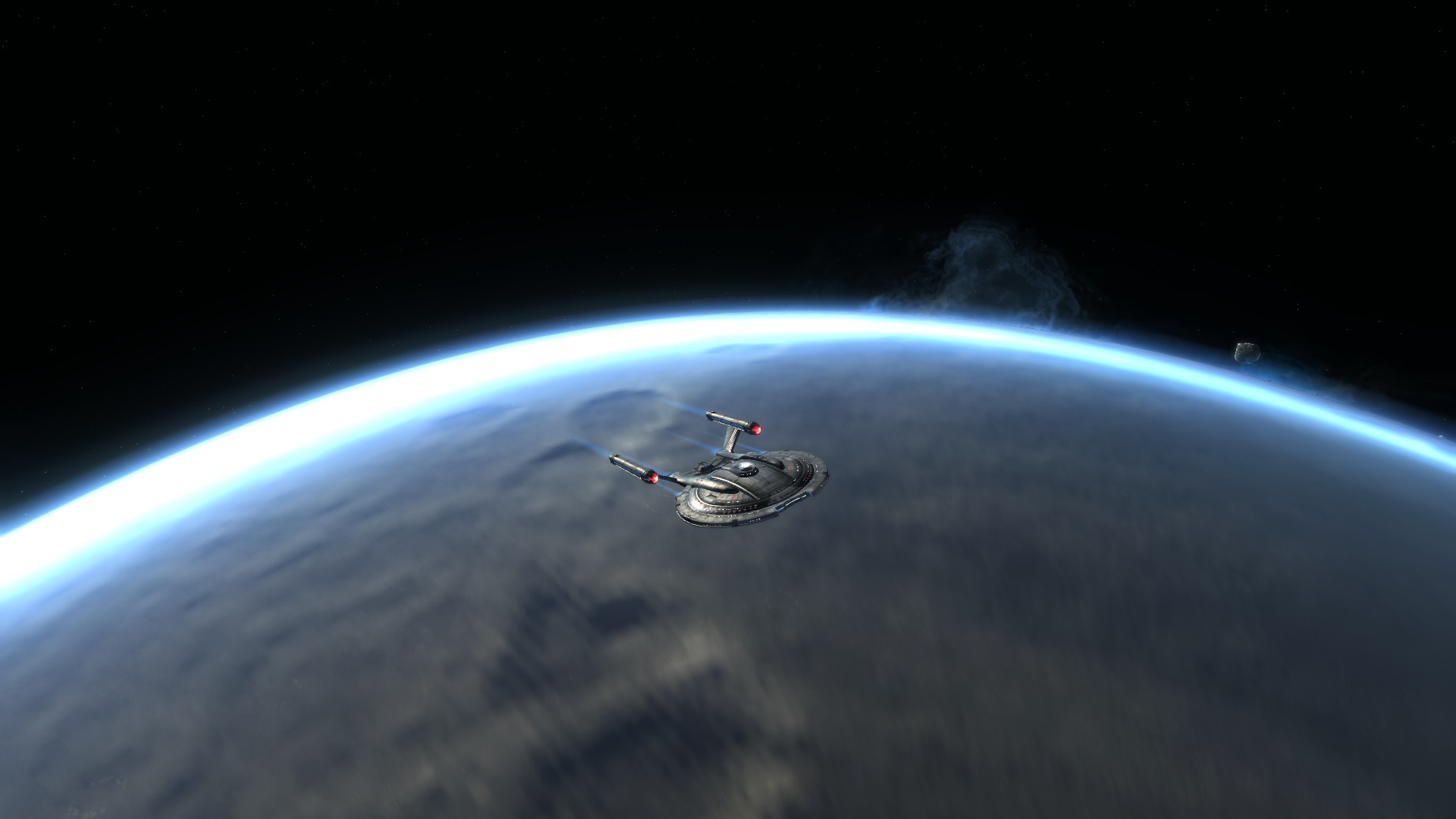 NX01 Over Planet