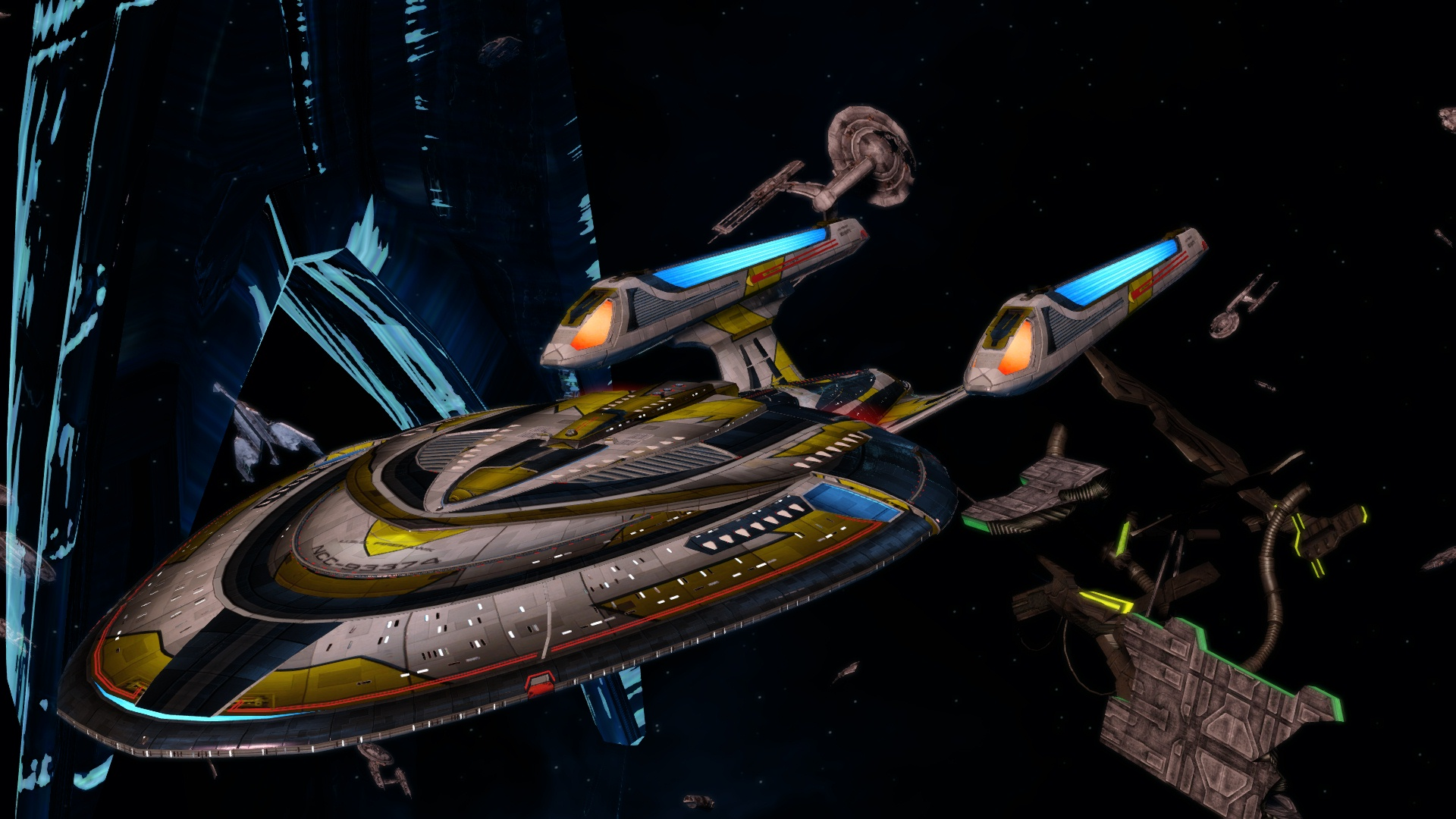 U.S.S. Firehawk at Wolf 359 by jdciollins 12th Legacy Fleet