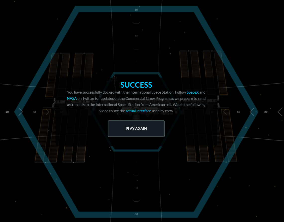 I apparently am a good enough pilot to dock a SpaceX Dragon capsule on the first try.